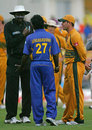Ricky Ponting and Mahela Jayawardene speak to Steve Bucknor about the chaotic scenes at the end of the final