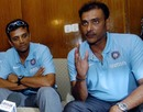 Ravi Shastri and Rahul Dravid talk to journalists in Dhaka
