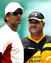 Dav Whatmore and Athar Ali Khan watch Bangladesh practice, Mirpur Stadium, Dhaka, May 8, 2007