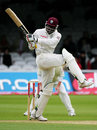 Chris Gayle swings one around the corner, England v West Indies, 1st Test, Lord's, May 21, 2007