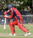 Mark Eames batting for Hong Kong against Cayman Islands, WCL Division Three, Darwin