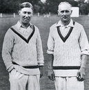 Norman Yardley and Hedley Verity in a charity game Ireland in September 1941. It was Verity's last match and he took 8 for 55
