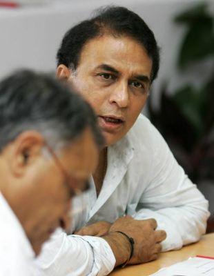 Sunil Gavaskar and Niranjan Shah, the board secretary, at the BCCI technical committee meeting, Bangalore, June 4, 2007