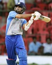 Harbhajan Singh pulls one to the fence. 1st ODI. Afro Asia Cup, Bangalore June 6, 2007