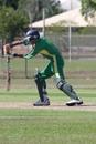 Rishen Patel batting