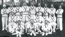 The 1932 All-India side which toured England. Back: Lall Singh, Phiroze Palia, Jahangir Khan, Mohammad Nissar, Amar Singh, Bahadur Kapadia, Shankarrao Godambe, Ghulam Mohammad, Janardan Navle. Seated: Syed Wazir Ali, C.K.Nayudu, Maharaja of Porbandar (captain), KS Limbdi (vice-captain), Nazir Ali,  XX. Front: Naoomal Jaoomal, Sorabji Colah, Nariman Marshall.