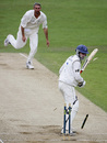 Richard Montgomerie is bowled by Jason Gillespie, Yorkshire v Sussex, County Championship, Headingley, June 18, 2007