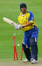 A dumbfounded Alex Loudon is bowled by Andrew Caddick, Warwickshire v Somerset, Twenty20 Cup, Edgbaston, June 22, 2007
