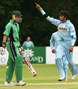 Sreesanth celebrates the wicket of Ireland opener Kenneth Caroll, Ireland v India, One-off ODI, Belfast, June 23, 2007