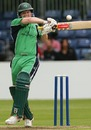 Ireland's Dominick Joyce attempts a pull to midwicket, Ireland v India, Belfast, One-off ODI, June 23, 2007