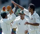 Shahadat Hossain celebrates with his team-mates after dismissing Malinda Warnapura, the Sri Lankan opener, Sri Lanka v Bangladesh, 1st Test, Colombo, 1st day, June 25, 2007