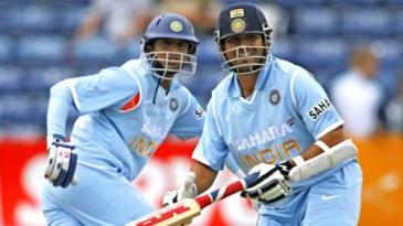Rahul Dravid and Sachin Tendulkar shared a 158 runs partnership