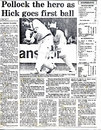 Newspaper coverage - Worcestershire CCC v. HKCA President's XI, Kowloon Cricket Club 11.04.1989