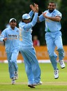 Zaheer Khan and Sourav Ganguly celebrate a strike but the appeal was turned down much to India's dismay