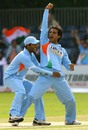 Sourav Ganguly and Dinesh Karthik are elated after bagging JP Duminy's wicket