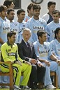 Prince Charles with the Indian and Pakistani team before the 'Friendship Cup' match between India and Pakistan