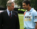 Rahul Dravid has a conversation with the Prince of Wales, Glasgow, July 3, 2007