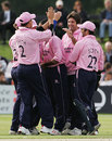 Tyron Henderson is congratulated on the wicket of Matthew Walker, Kent v Middlesex, Twenty20 Cup, Beckenham, July 4, 2007