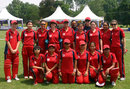 The Hong Kong team before the match against Thailand. ACC Women's Cricket Tournament, IPTI, 13th July 2007