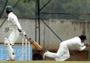 Kumar Sangakkara took a smart catch in slip to end Javed Omar's vigil at the crease, Sri Lanka v Bangladesh, The Asgiriya Stadium, Kandy,  July 14, 2007.