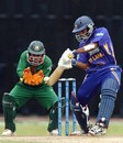 Tillakaratne Dilshan  is watched by  Mushfiqur Rahim as he nudges the ball to the off side, Sri Lanka v Bangladesh, 2nd ODI, Colombo, July 23, 2007