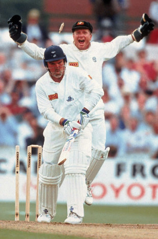 Mike Gatting is bowled by Shane Warne, England v Australia, 1st Test, Old Trafford, June 4, 1993