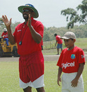 Kenny Benjamin oversees a coaching clinic for Trinidad & Tobago's Under-13s, Balmain Couva, Trinidad, July 26, 2007
