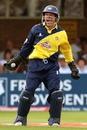 Steve Adshead celebrates the run out of Andrew Flintoff, Gloucestershire v Lancashire, Twenty20 Cup, 1st semi-final, Edgbaston, August 4, 2007