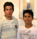 Pakistan players Mansoor Amjad and Adnan Akmal in Nottingham, August 1, 2007