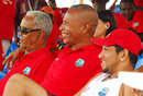 Garry Sobers, Bernard Julien and Ramnaresh Sarwan at the Digicel coaching clinic, Arnos Vale, St Vincent, August 7, 2007