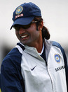 Ranadeb Bose is all smiles at the nets, The Oval, August 8, 2007