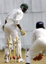 Lameck Onyango is bowled by Pankaj Singh