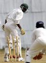 Lameck Onyango is bowled by Pankaj Singh, Kenya v India A, Mombasa, August 10, 2007