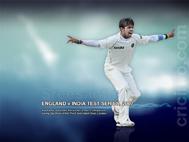Sreesanth celebrates a wicket, England v India