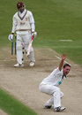 David Griffiths roars an unsuccessful appeal for Mark Ramprakash's wicket, Hampshire v Surrey, Southampton, August 30, 2007