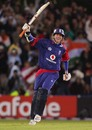 Stuart Broad is overjoyed after taking England home, England v India, 4th ODI, Old Trafford, August 30, 2007