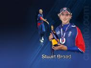 Man-of-the-match Stuart Broad, 4th ODI, England v India