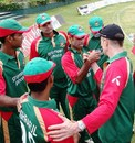 Bangladesh coach Shaun Williams gives a pep talk to his boys before the match, Kenya v Bangladesh, 2nd match, Twenty20 Quadrangular Tournament, Nairobi, September 1, 2007