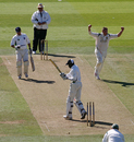 Simon Renshaw cleans up Ruel Brathwaite, Bromley v Kibworth, Cockspur Cup final, Lord's, September 11, 2007