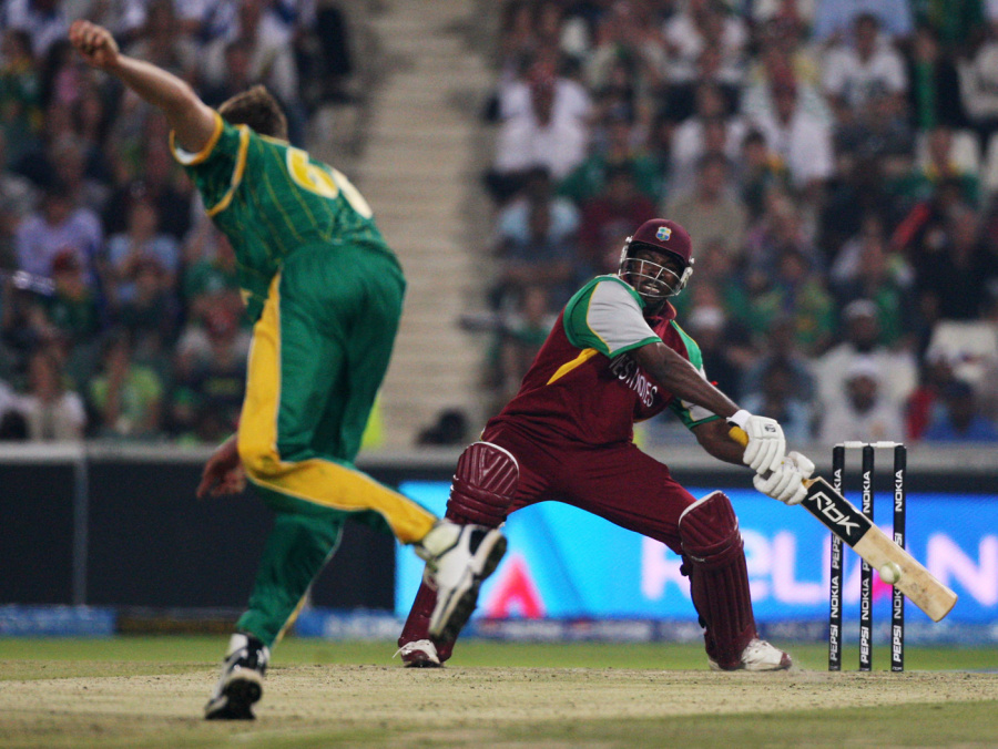 Chris Gayle gives himself room to play a shot, South Africa v West Indies , Group A, ICC World Twenty20, Johannesburg, September 11, 2007