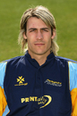 Chris Taylor poses during a Derbyshire CCC photocall, April 16, 2007