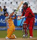 Ricky Ponting heaves to leg
