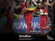 Zimbabwe celebrates as they win against Australia