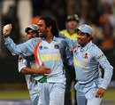 Mahendra Singh Dhoni is ecstatic after winning his first international match as captain, India v Pakistan, Group D, ICC World Twenty20, Durban, September 14, 2007