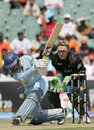 Dinesh Karthik misses a sweep while Brendon McCullum looks on, India v New Zealand, Group E, ICC World Twenty20, Johannesburg, September 16, 2007