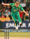 Shaun Pollock hurdles the stumps to celebrate his dismissal of Paul Collingwood, Group E, ICC World Twenty20, Cape Town, September 16, 2007