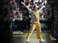 Brett Lee after his first T20 hat-trick