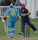 Asif Mulla is bowled by Arsalan Qadir, Yorkshire CC v Toronto CC, Toronto, September 15, 2007