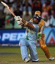 Yuvraj Singh heaves one over the leg-side boundary