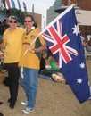 Australian supporters were hard to find in a sea of Indian fans